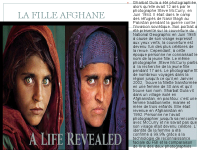 La fille à AFGHANE